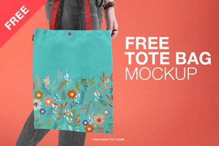 Free Realistic Tote Bag Mockup