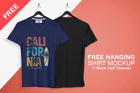 Free Hanging T Shirt Mockup