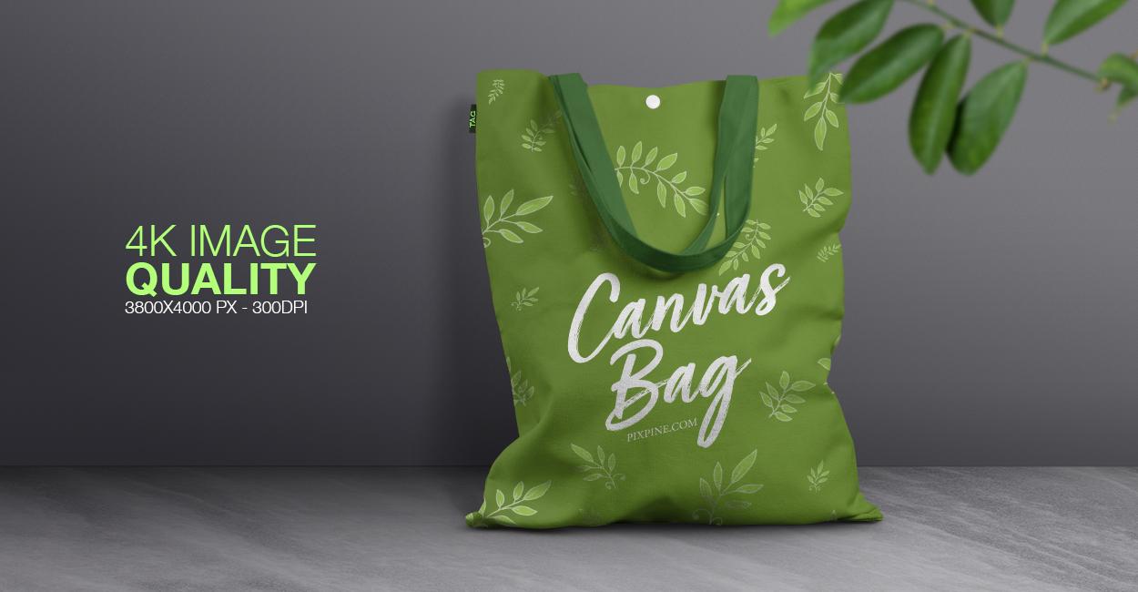Free Canvas Bag Mockup by Pixpine