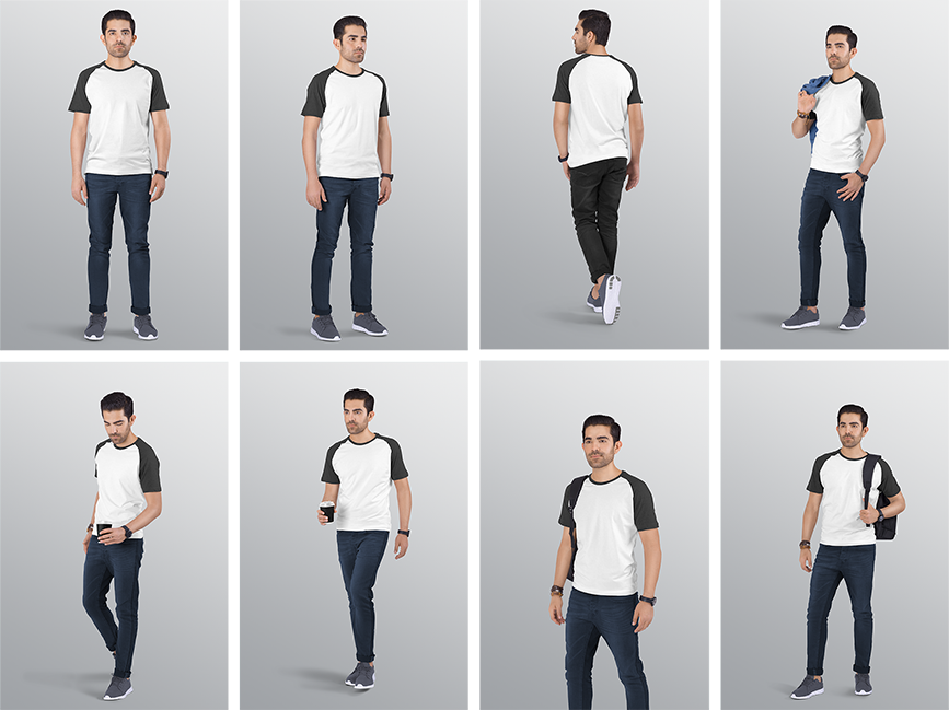 T Shirt Mockup Raglan Shirt Mockup T Shirt Mockup With Model