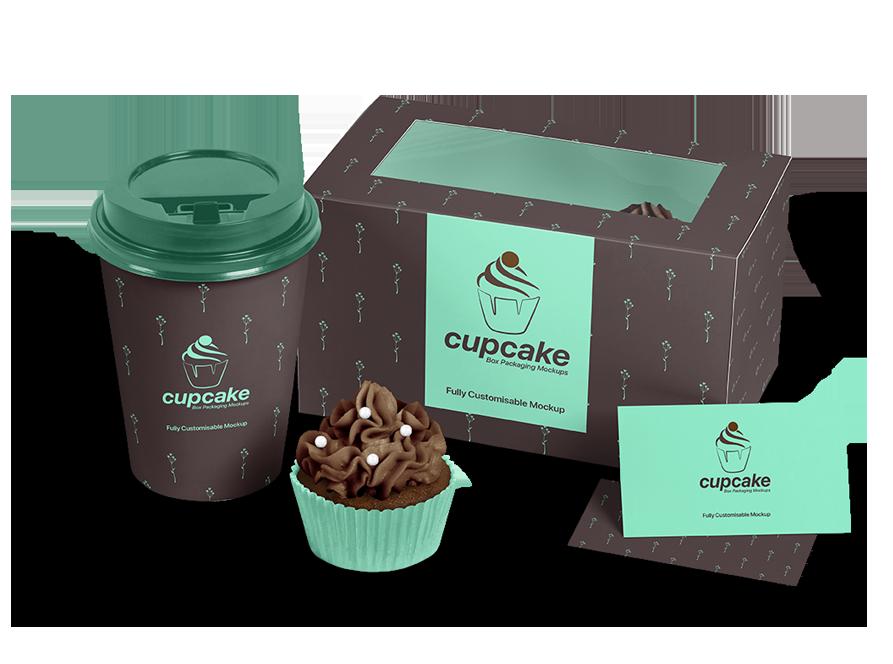 Cupcake Box Mockup