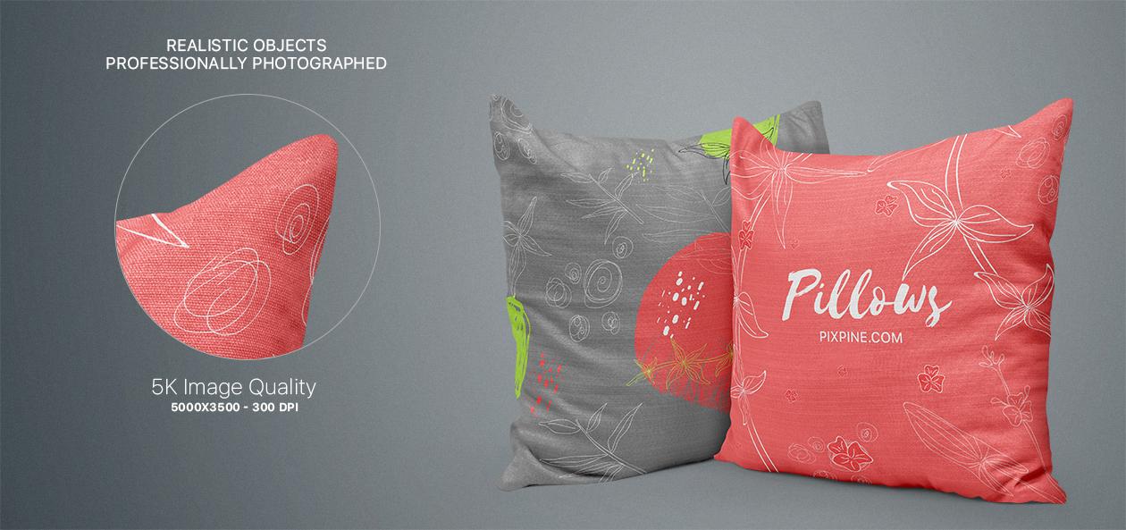 Pillow Mockups Set