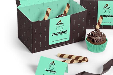 Two Cupcake Box Mockups Set