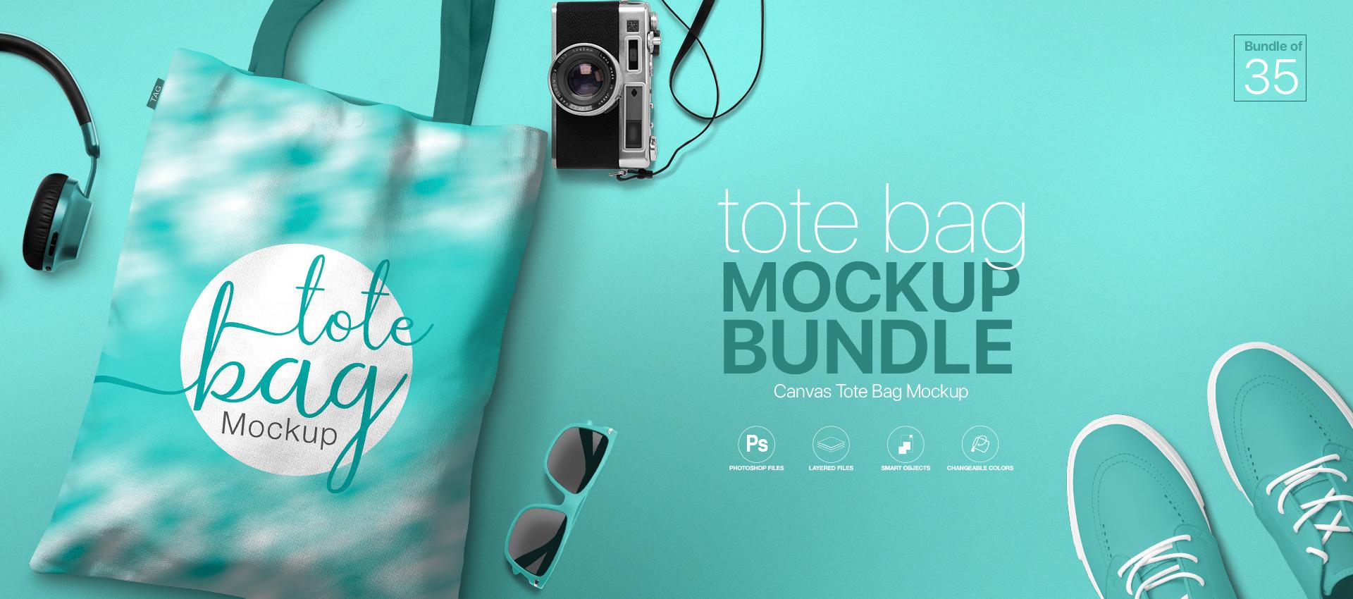 Tote Bag Mockup Bundle PSD