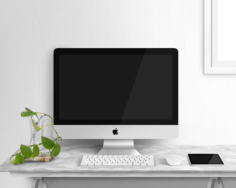 Free iMac Display Mockup