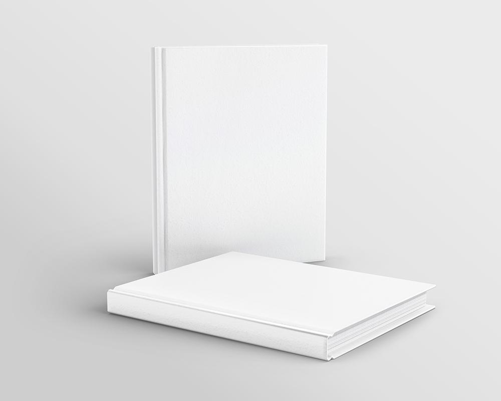 Free Hardcover Books Mockup