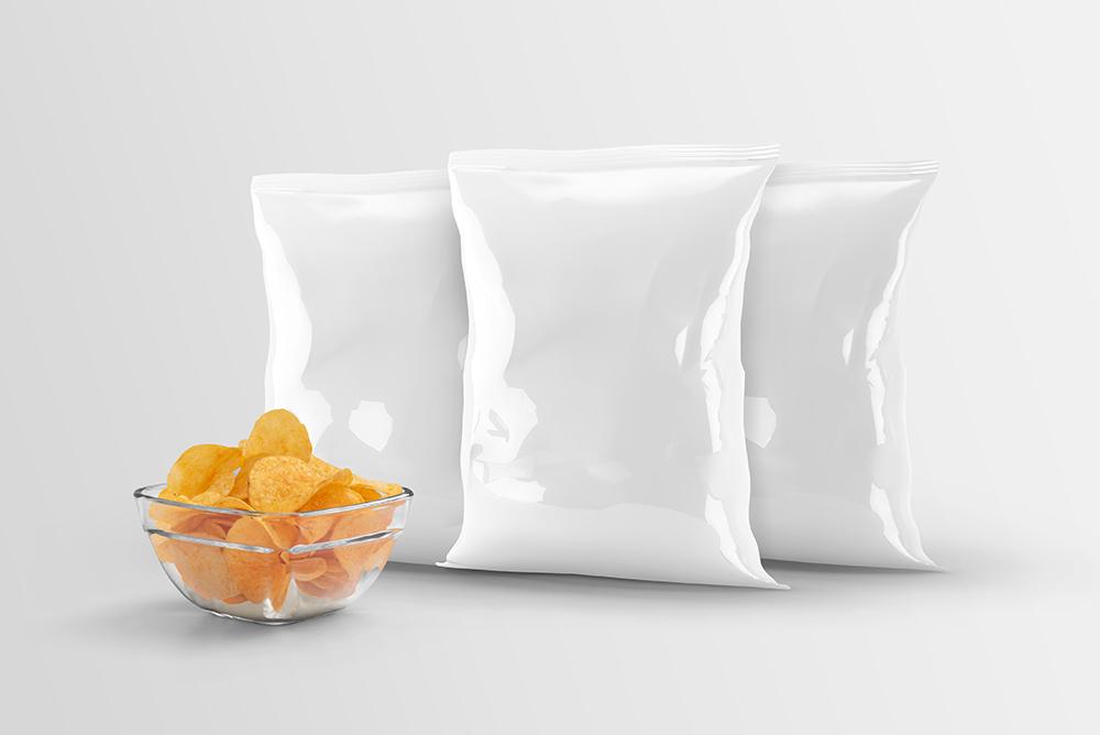 Free Chips Bag Mockup