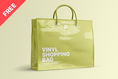 Vinyl Shopping Bag Mockup