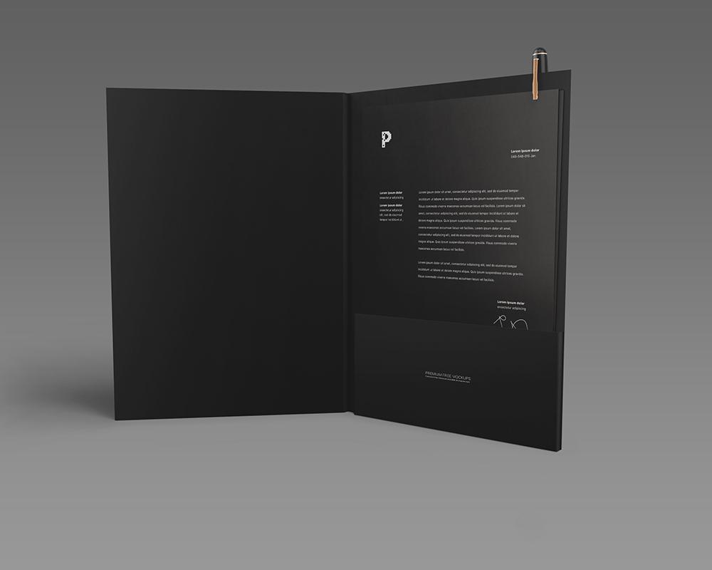 Free Pocket Folder Mockup