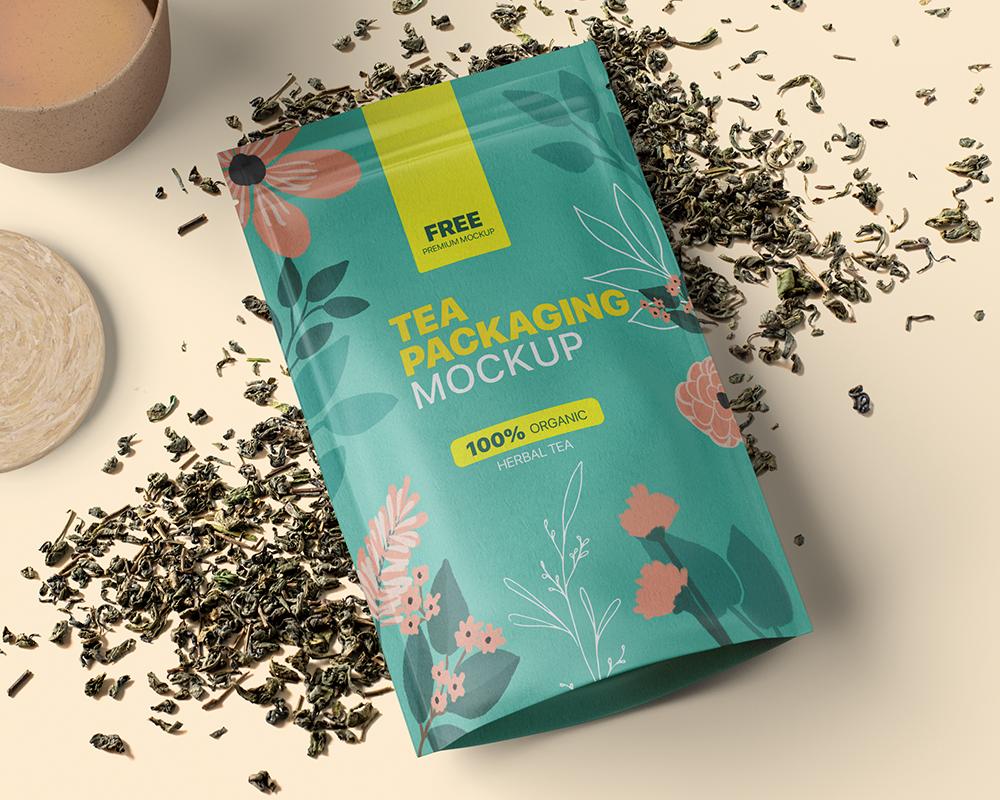 Free Tea Packaging Mockup