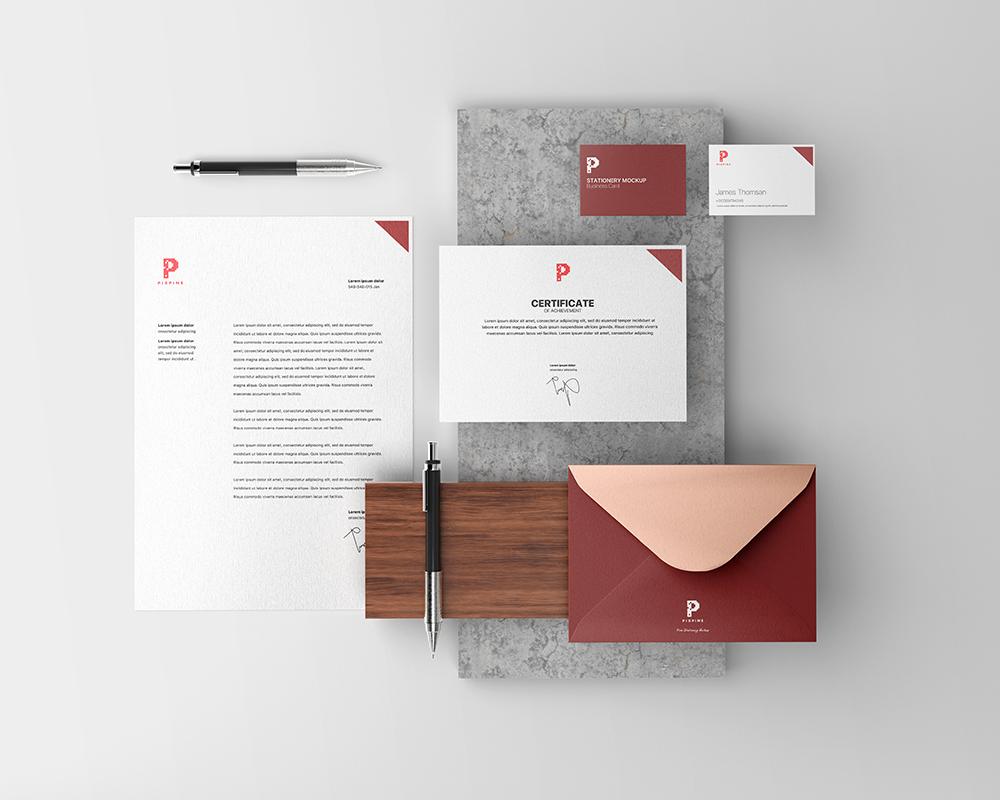 Free Branding Identity Stationery Mockup