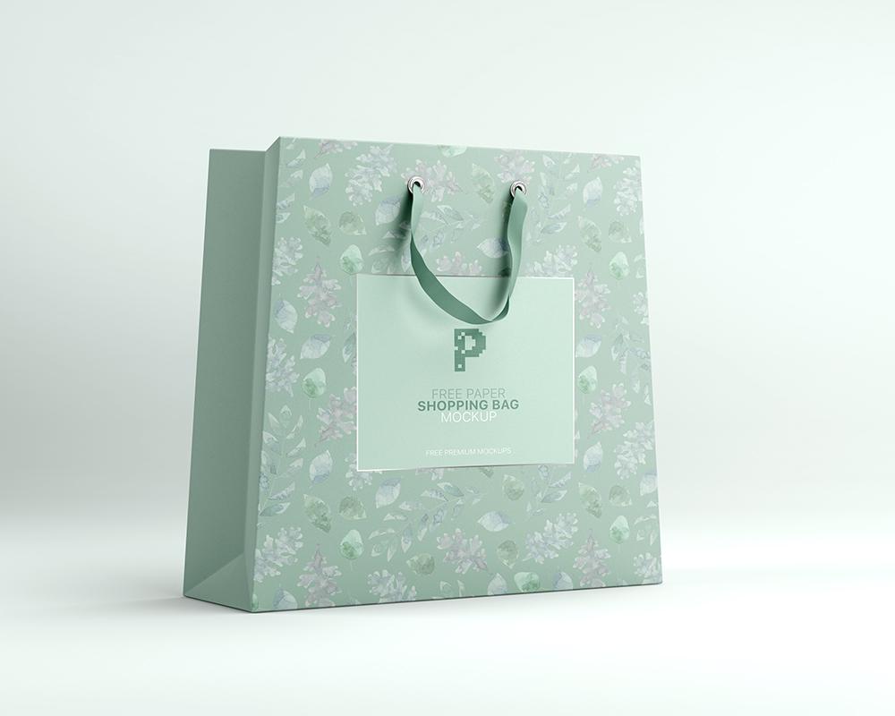 Free Paper Shopping Bag Mockup