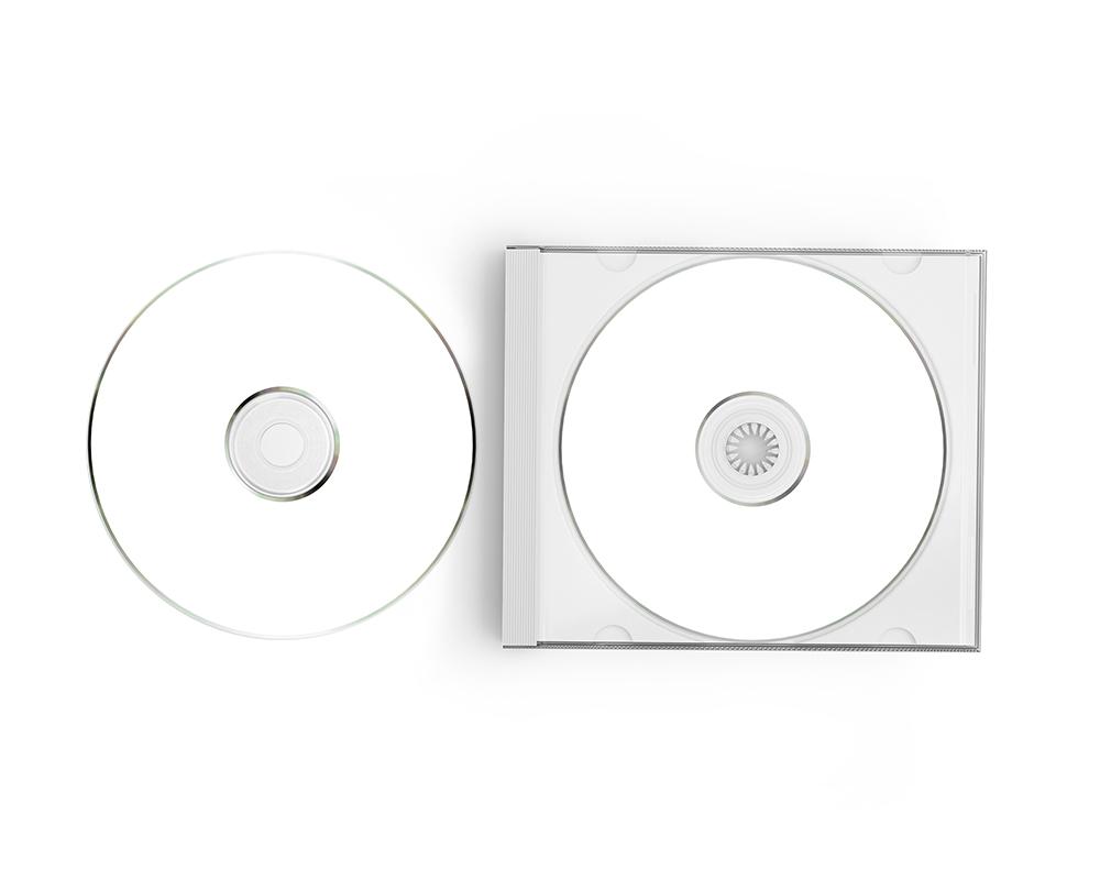 Free CD Label Mockup