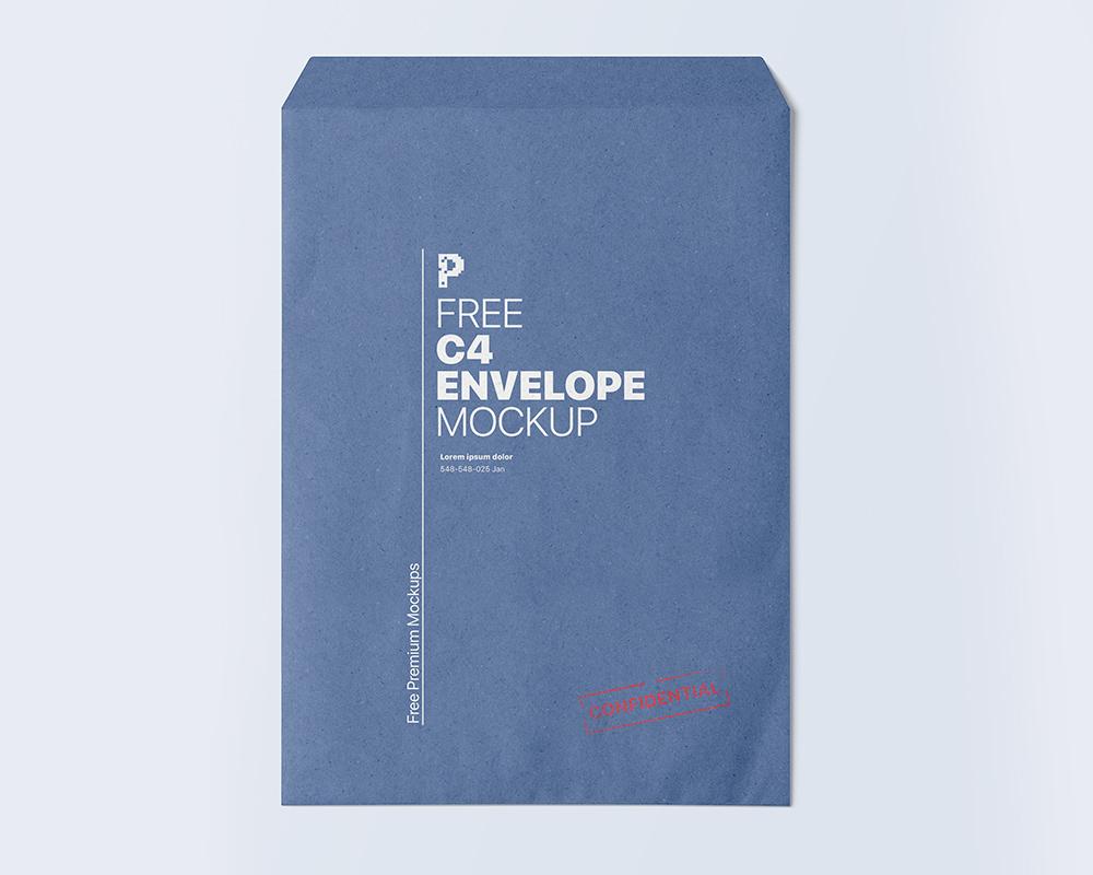 Free C4 Envelope Mockup