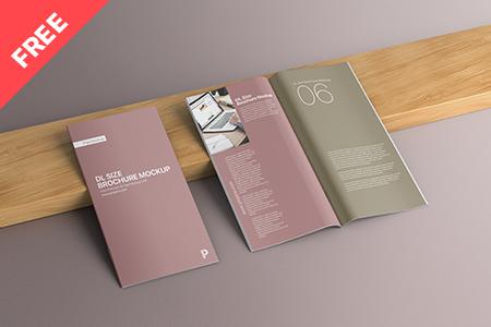 Free DL Size Brochure Mockup