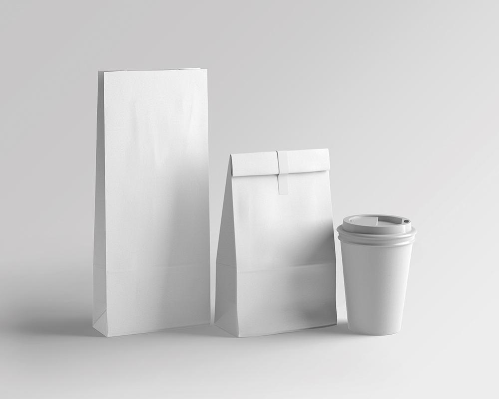 Free Coffee Bean Bag Mockup
