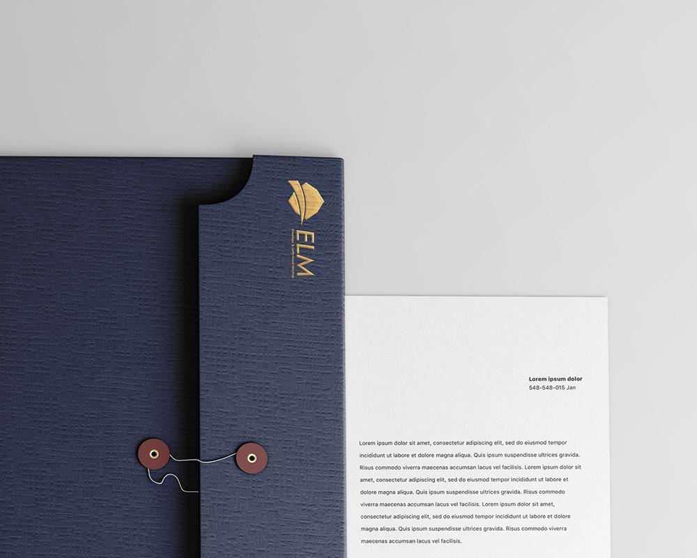 Free Envelope with Letterhead Mockup