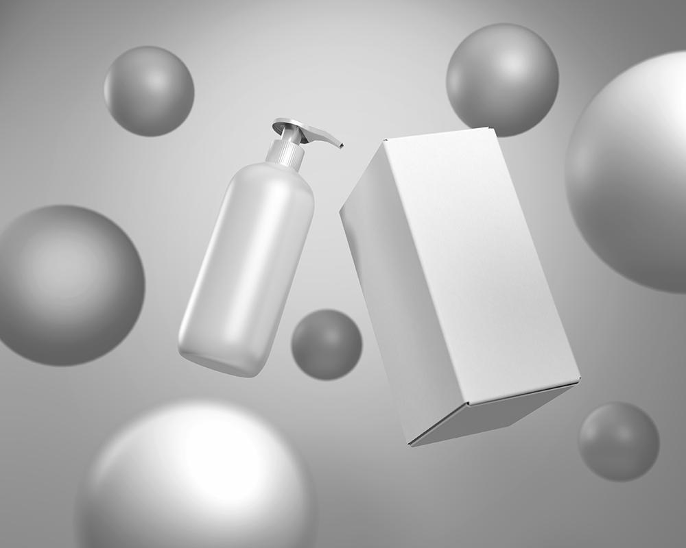 Free Lotion Pump Bottle Mockup
