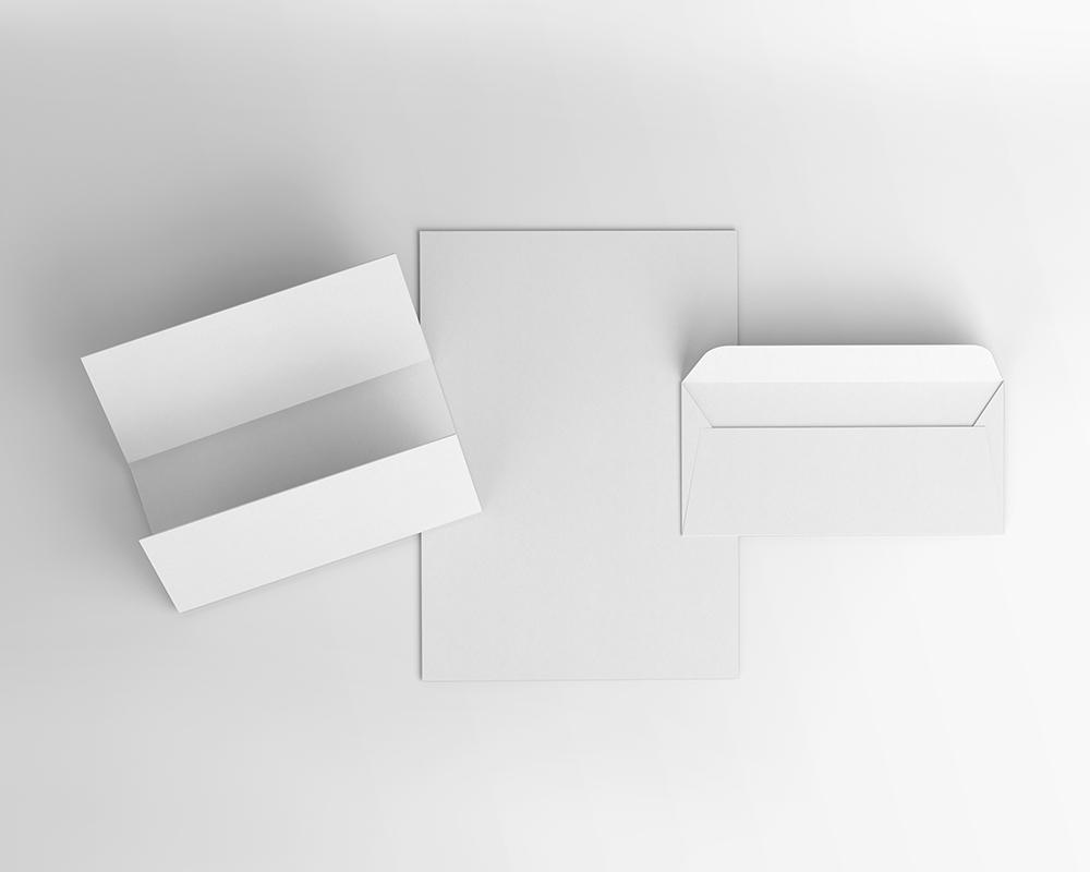Letterhead and Envelope Mockup