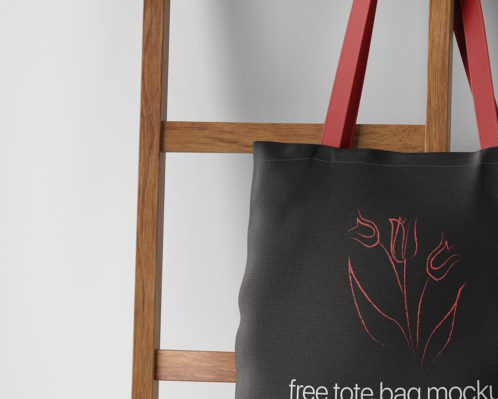 Free Hanging Tote Bag Mockup