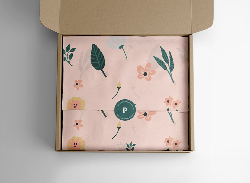 Free Wrapping Tissue Paper Mockup