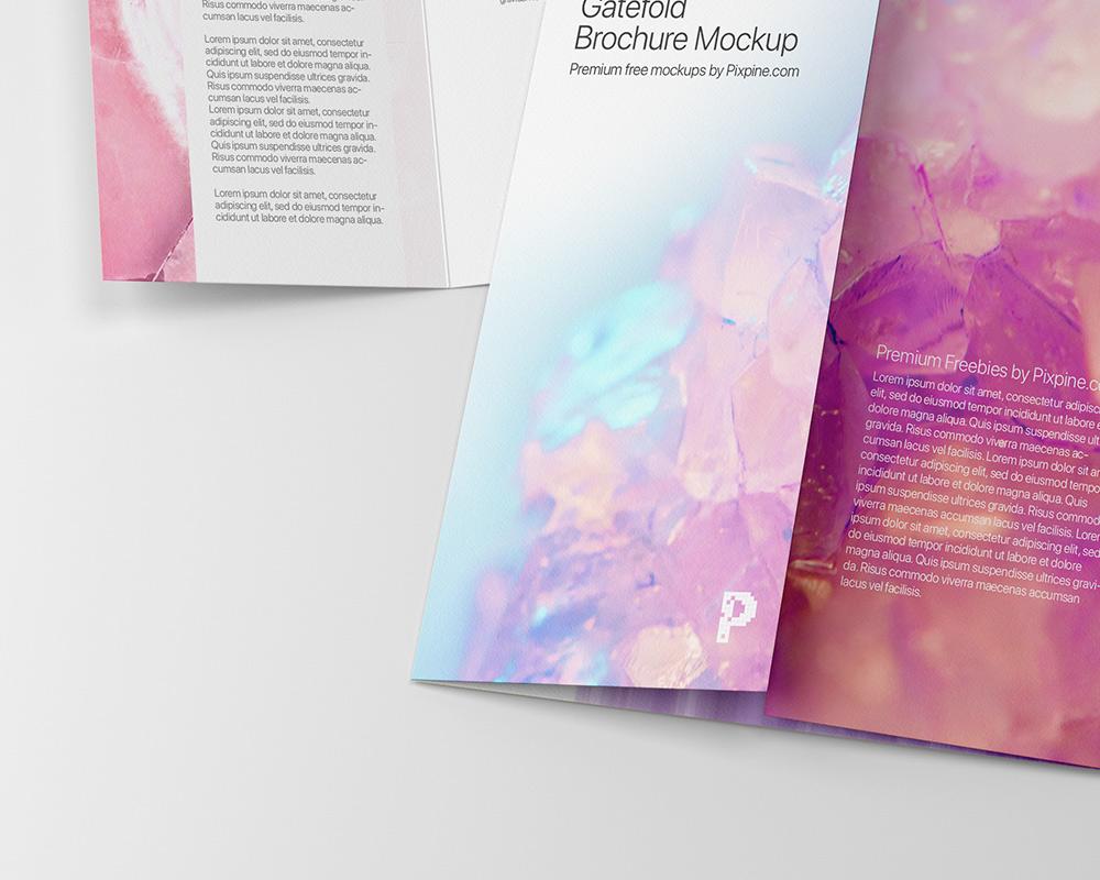 Free Gatefold Brochure Mockup