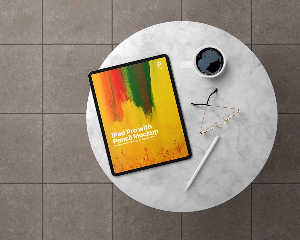 Free iPad Pro with Pencil Mockup