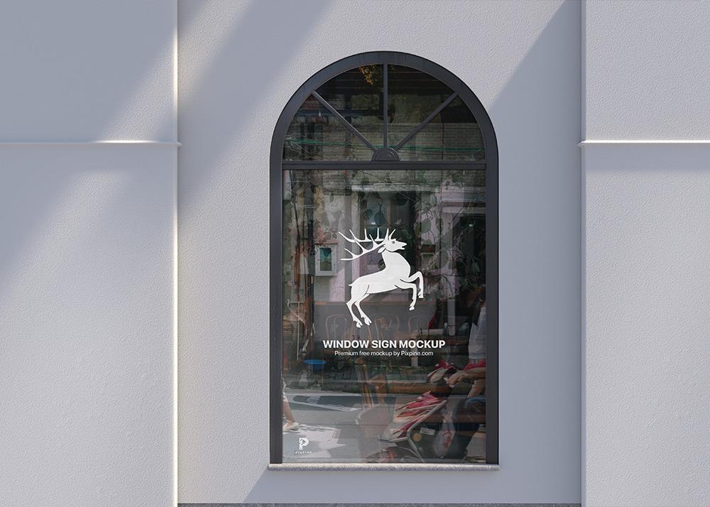 Free Window Sign Mockup